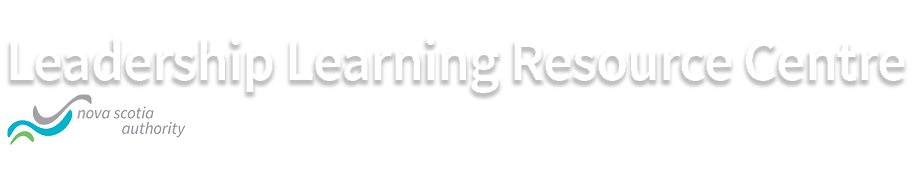 logo with words leadership learning resource centre
