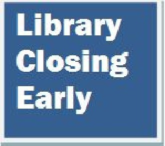 Library Closes at 4pm for Staff Meeting