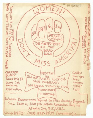 Miss America protest poster