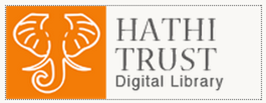 HathiTrust Digital Library logo (A white stylized outline of an elephant on an orange background, next to black text on a white background)