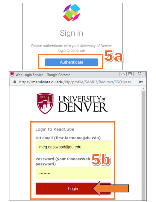 remember to use your full email address -- firstname.lastname@du.edu and your PioneerWeb password.