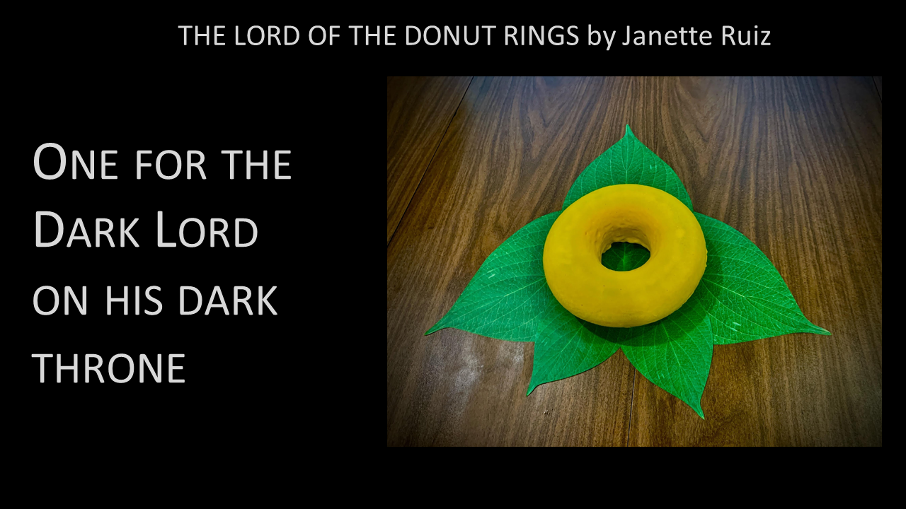 The Lord of the Donut Rings -- One for the Dark Lord on his dark throne