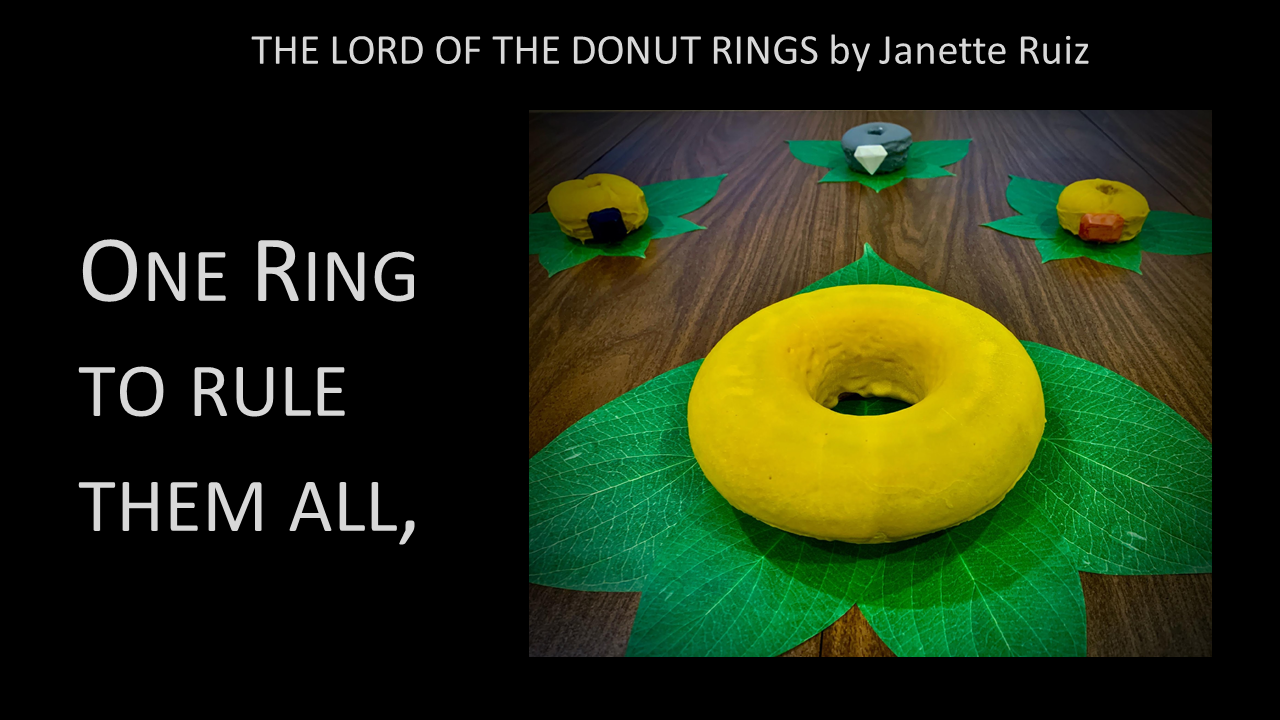 The Lord of the Donut RIngs -- One ring to find them