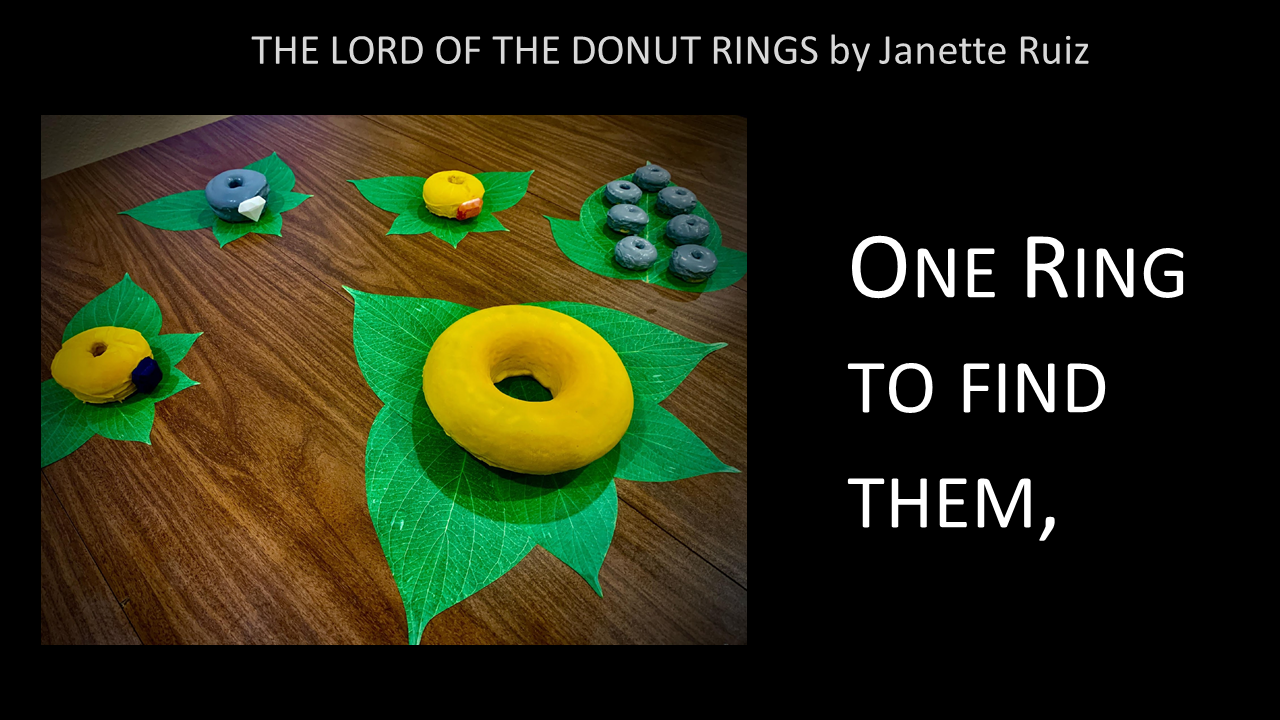 The Lord of the Donut RIngs -- One ring to find them,
