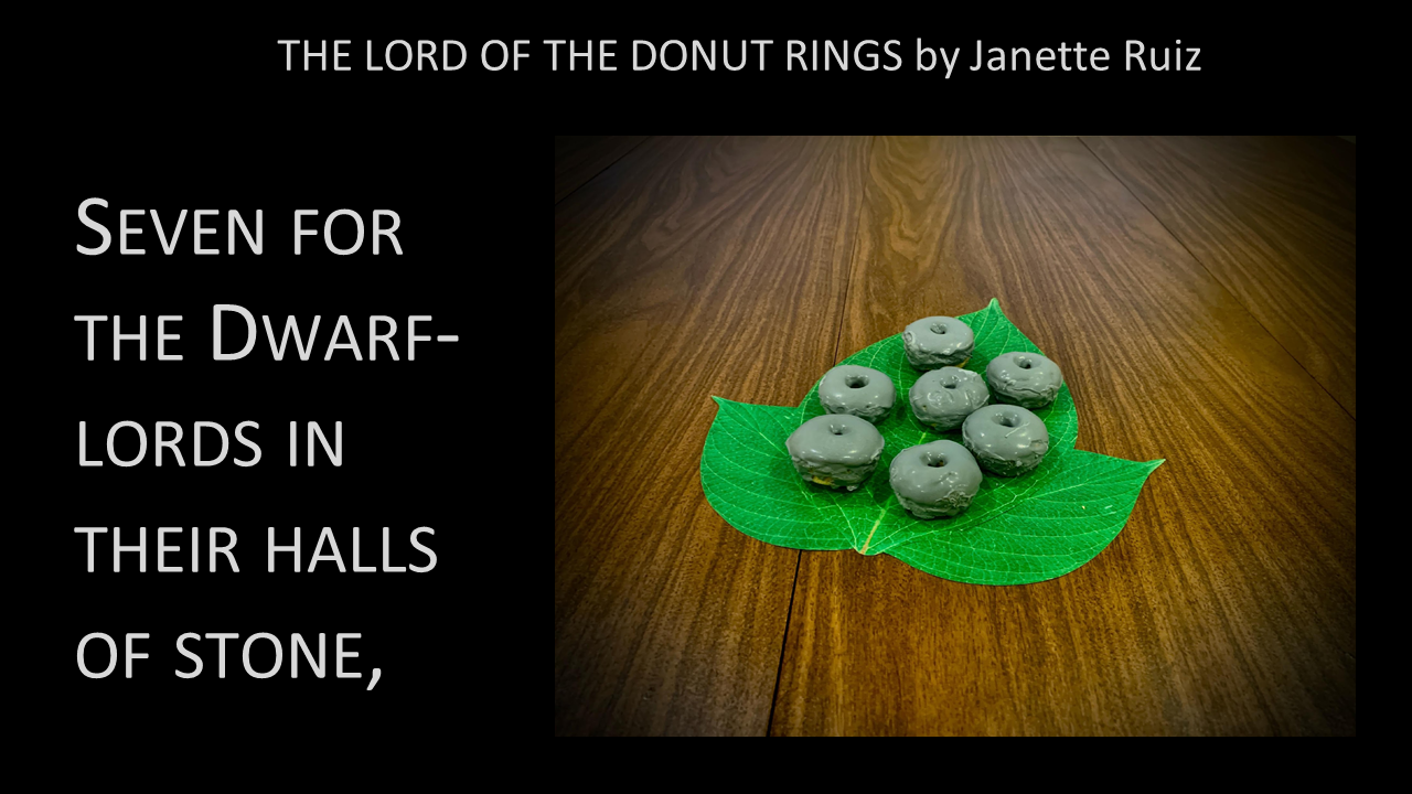 Lord of the Donut Rings: Seven for the Dwarf-lords in their halls of stone