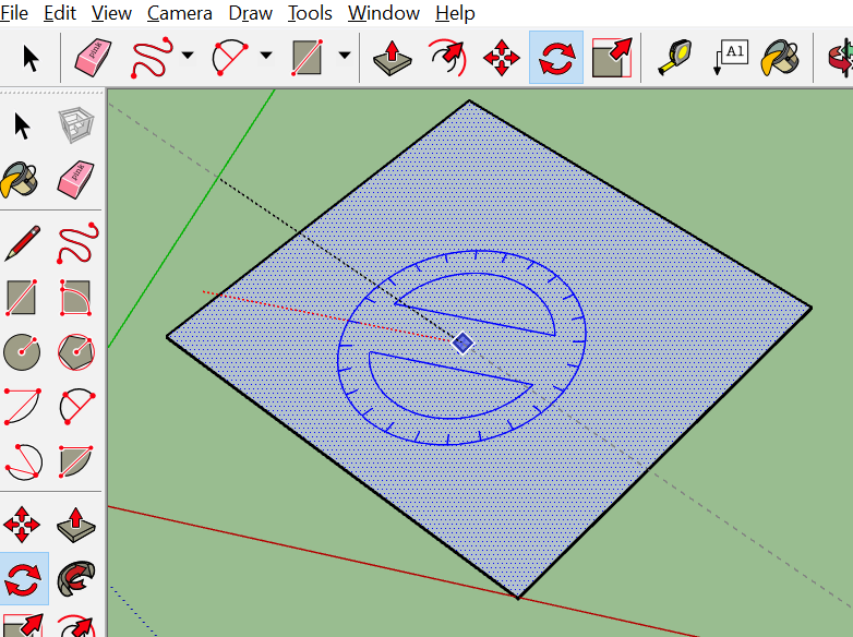 Rotating an Object in SketchUp