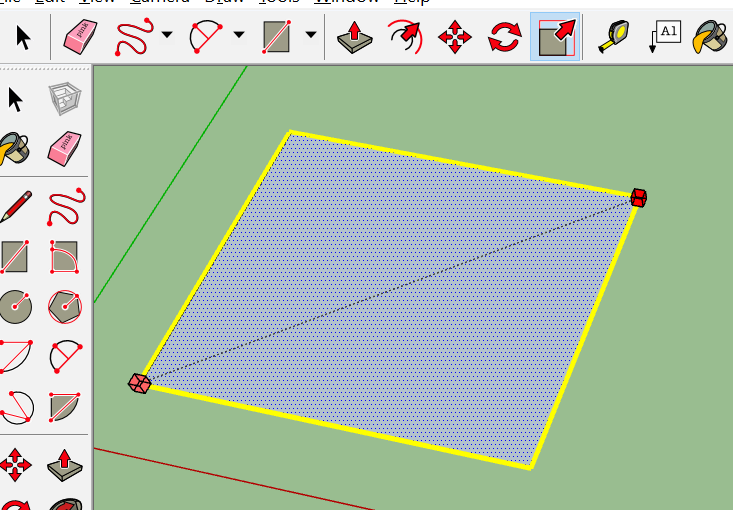Screenshot of Scale Tool in use