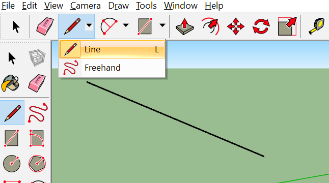 Traditional line in a SketchUp Scene