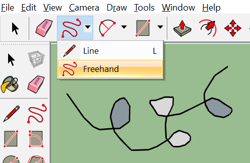 Freehand Line in a SketchUp Scene