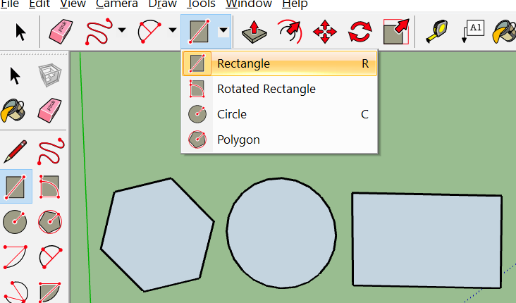 Different Shapes in SketchUp