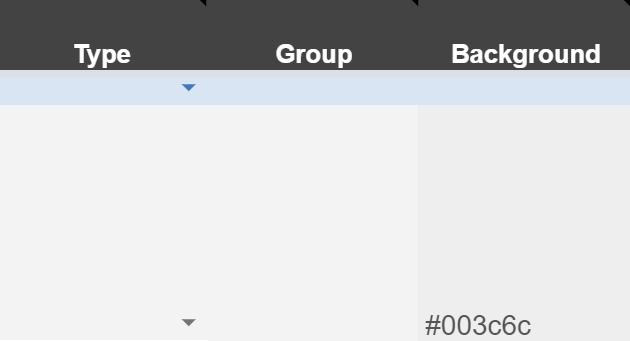 Google Sheets add hex code