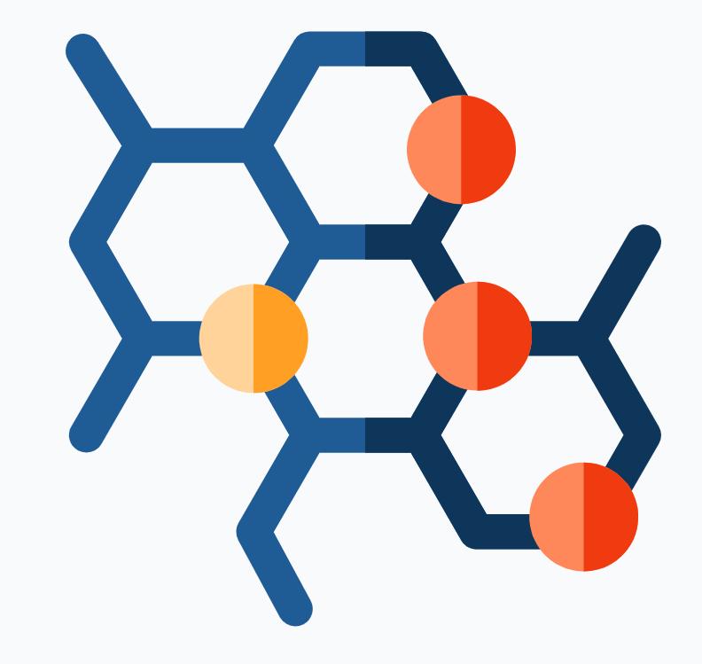 Illustration of molecules