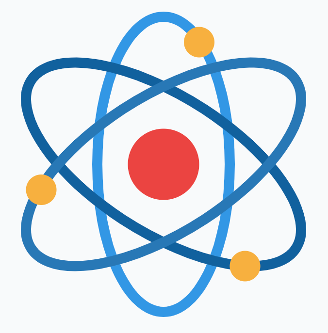 Illustration of atom with electrons