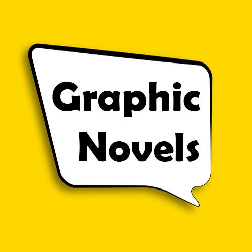 Graphic Novels in a speech bubble