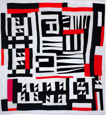 Red, Black, and White Quilt