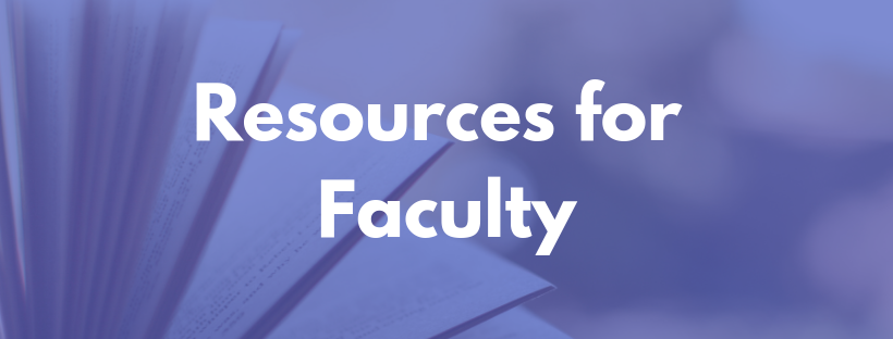 Writing Center Faculty Resources Banner