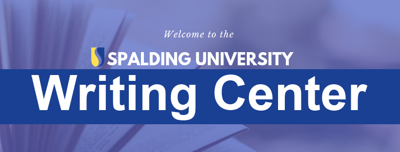 Welcome to the Spalding Writing Center banner