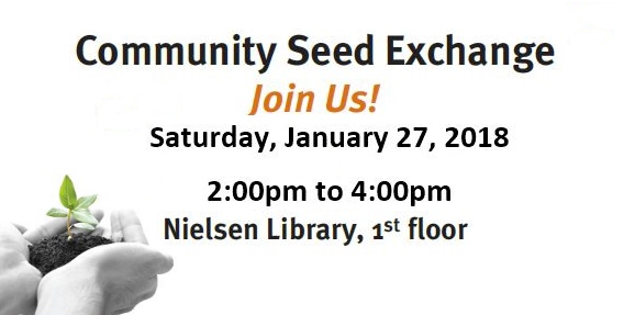 Seed to Seed Event Sat Jan 27, 2-4pm in the Nielsen Library