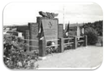 Photograph of a Carpetbagger memorial on the coast of France.