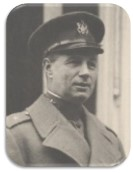 Photograph of Mitchell in uniform and overcoat