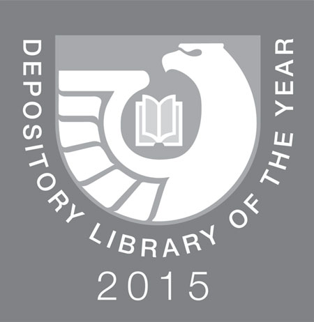 insignia for depository library of the year