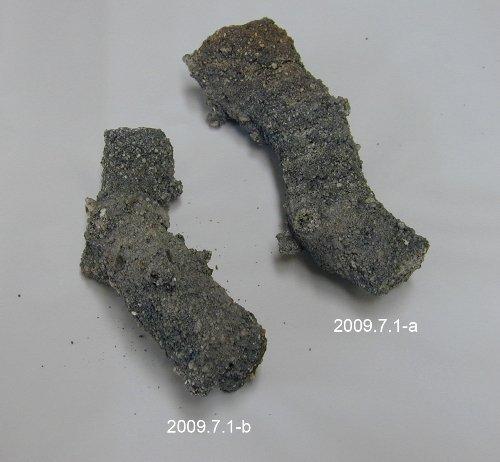 2 large sand fulgurites