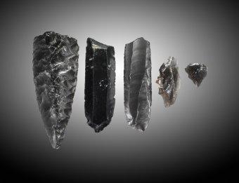 5 Obsidian Tools (73.1.12)