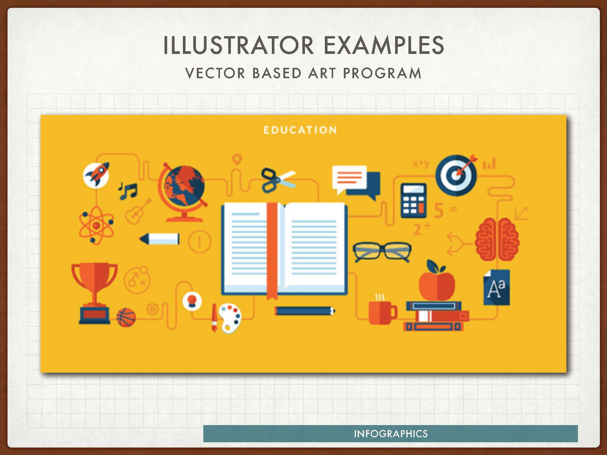 Infographic as example of Illustrator vector art.