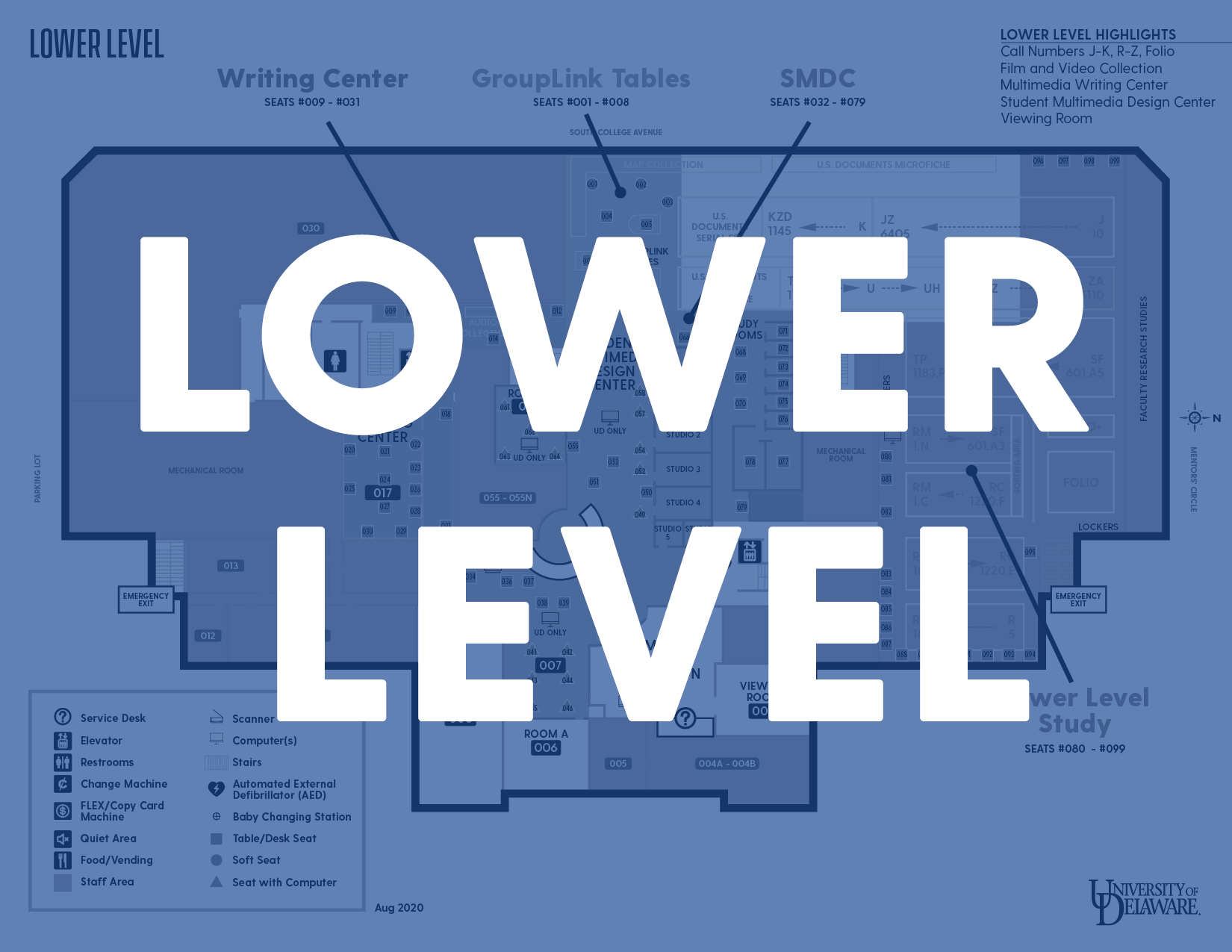 Lower Level Map