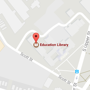 Google map to Education Library location