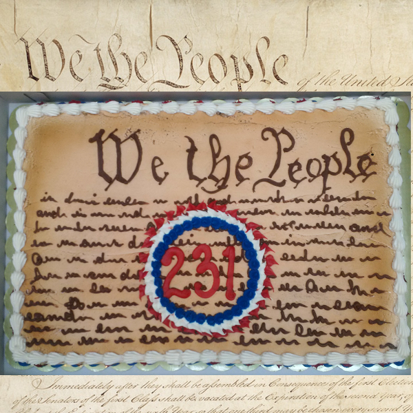 Constitution's 231-year birthday cake