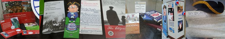 Constitution exhibit photo collage banner