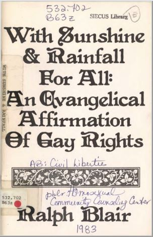With Sunshine & Rainfall For All (An Evangelical Affirmation Of Gay Rights)
