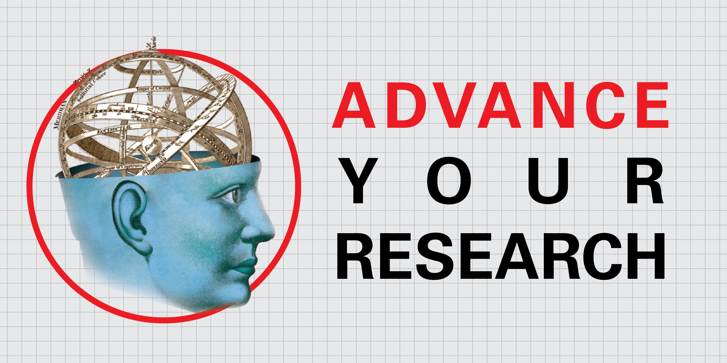 Blue Head Advance Your Research Logo