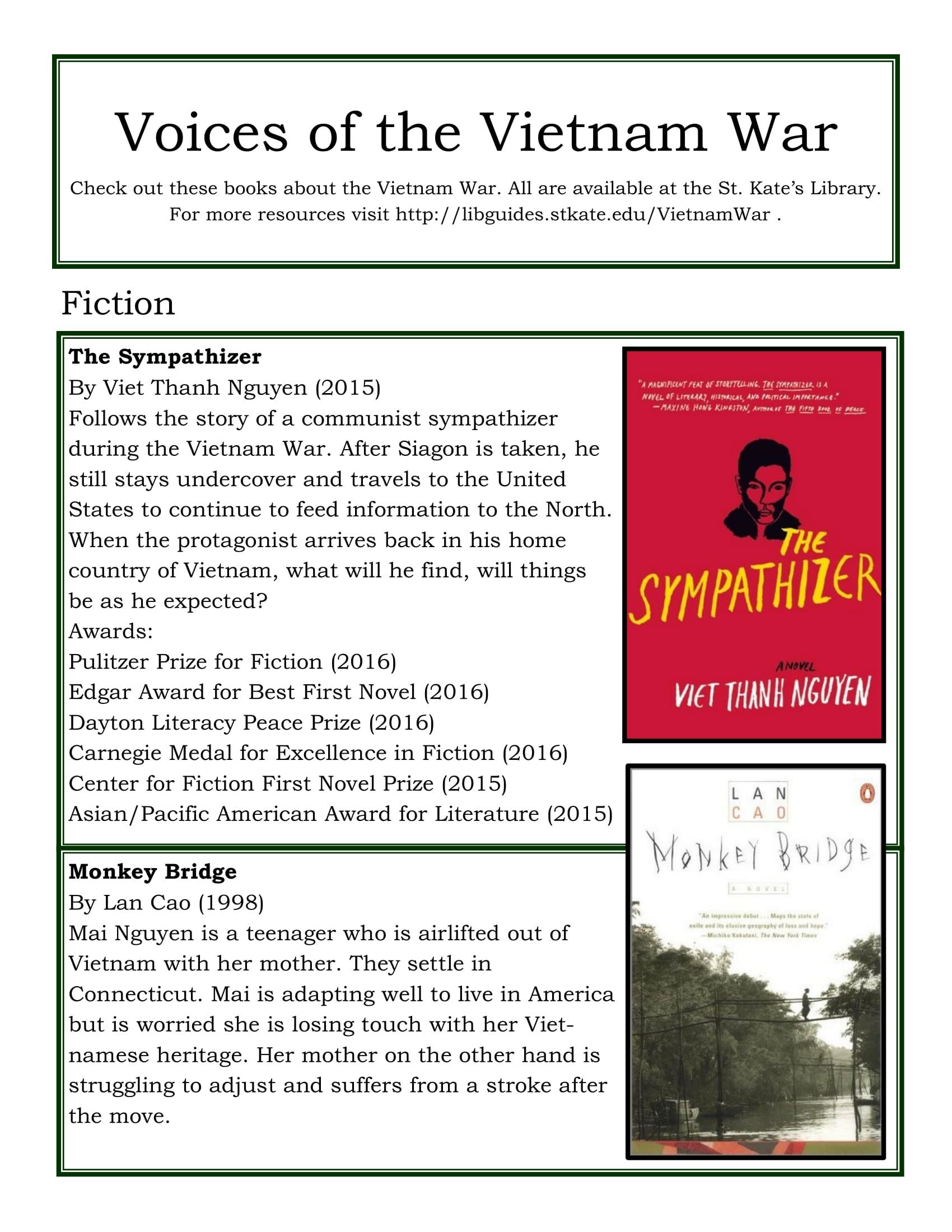 Vietnam Voices Book Flyer