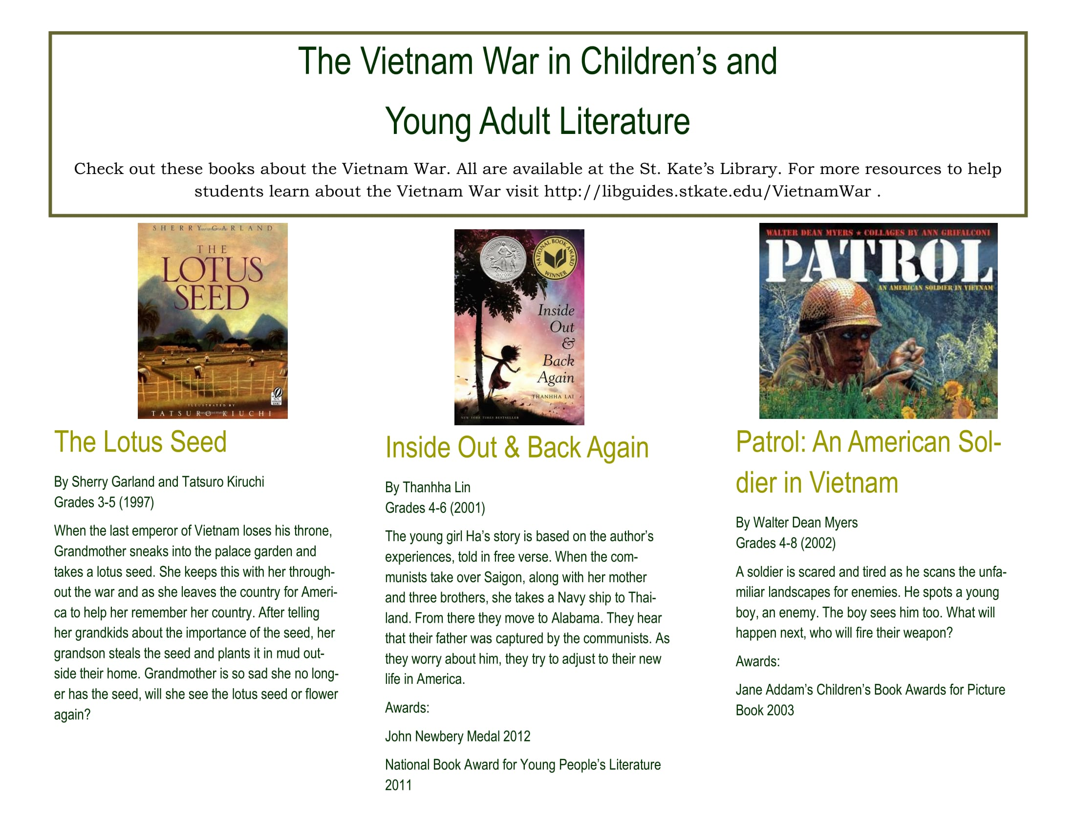 Youth Book Flyer