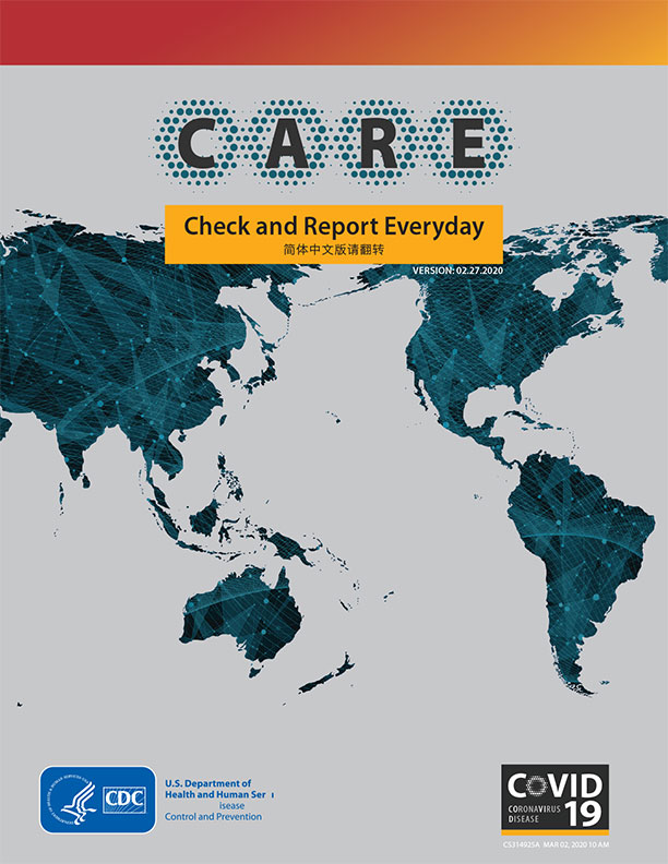 An image of the front of the CARE booklet from the CDC and linked to the website to download the resource