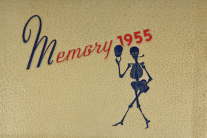 Cover of the 1955 Memory yearbook