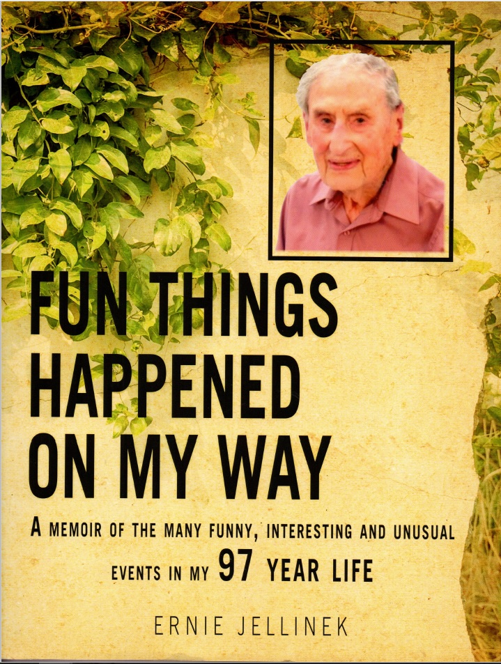 Book cover, Fun Things Happened on my Way by Ernie Jellinek