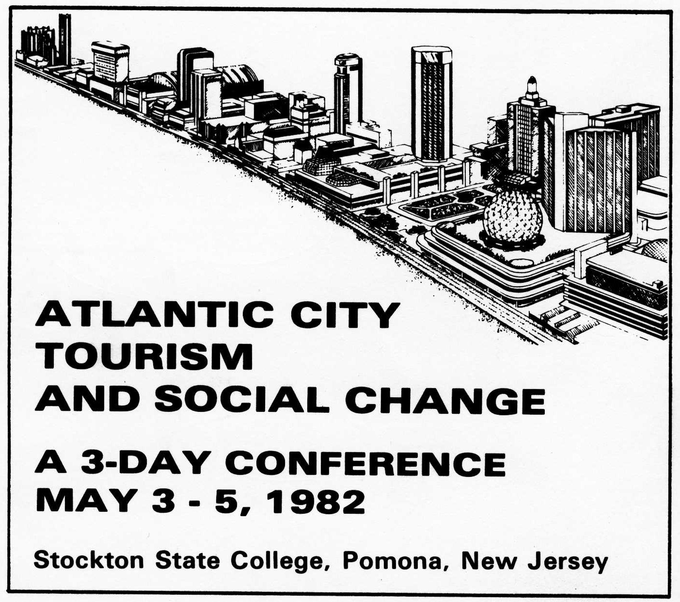 Program cover, Conference on Atlantic City, Tourism and Social Change, May 1982