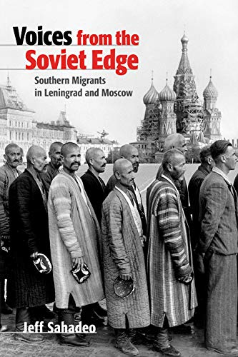 Cover of book showing men lined up in front of iconic Russian church with onion domes.