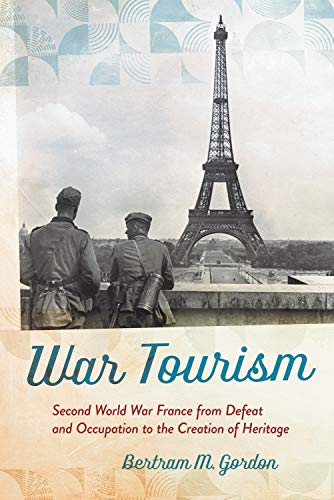 Book cover art showing image of two people looking at Eiffel Tower