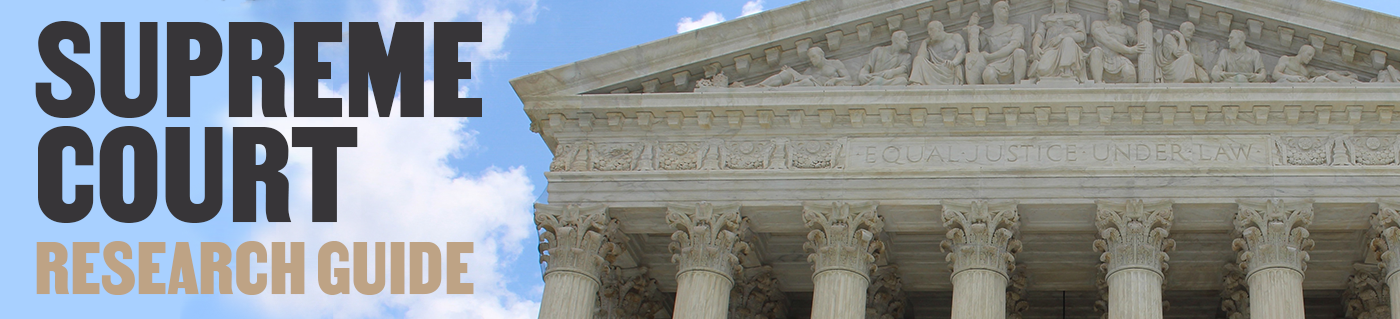 Supreme Court Banner- picture of the top sculptures on the Supreme Court building in Washington, D.C.