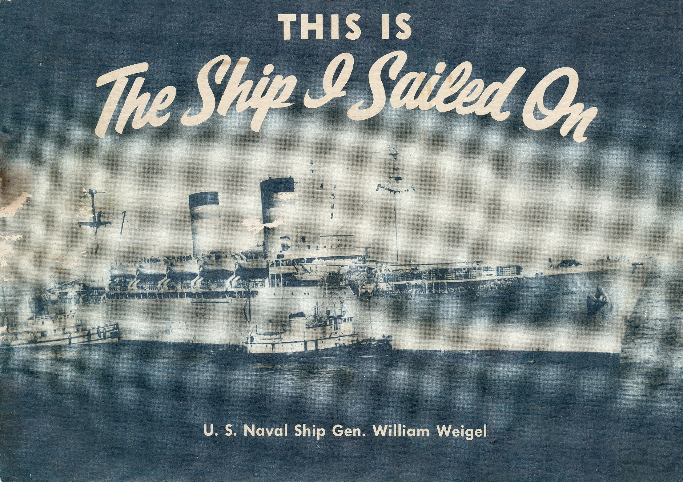 booklet with navy ship on the cover