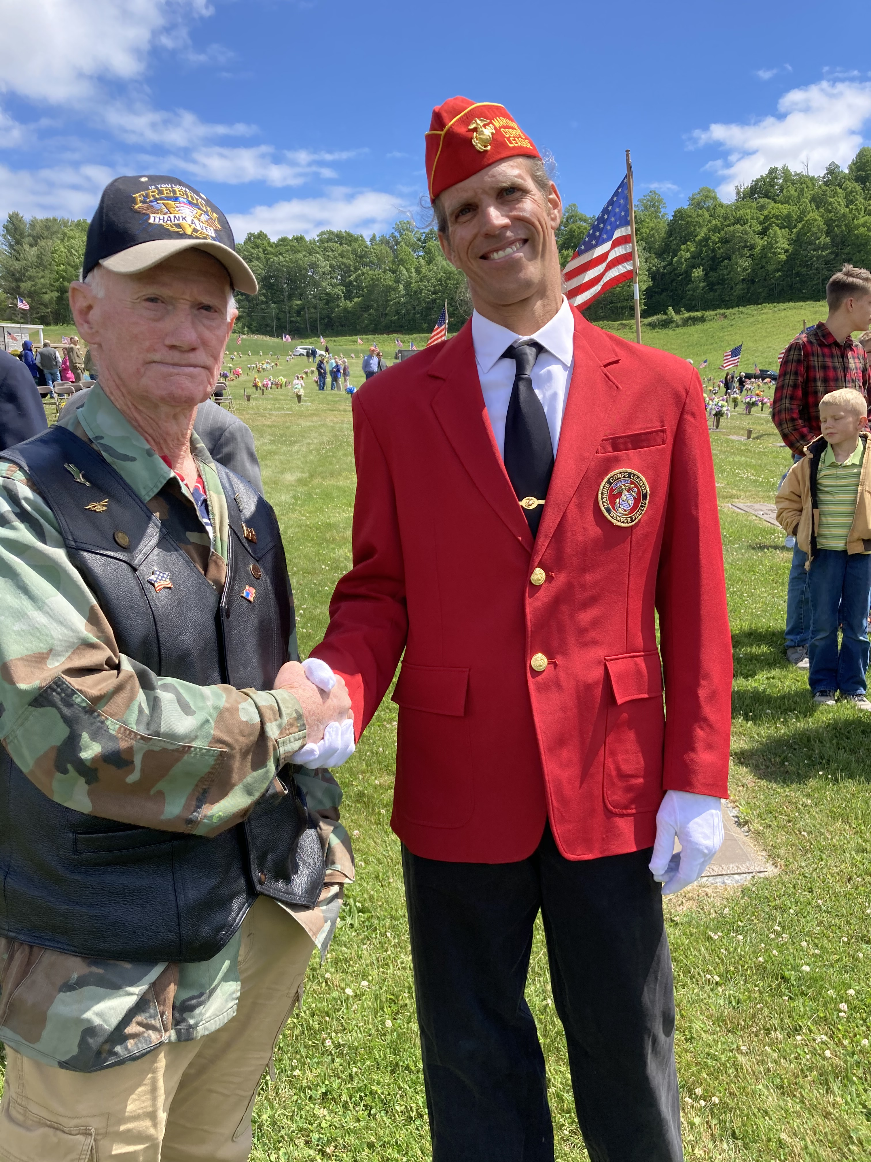 two veterans shaking hands