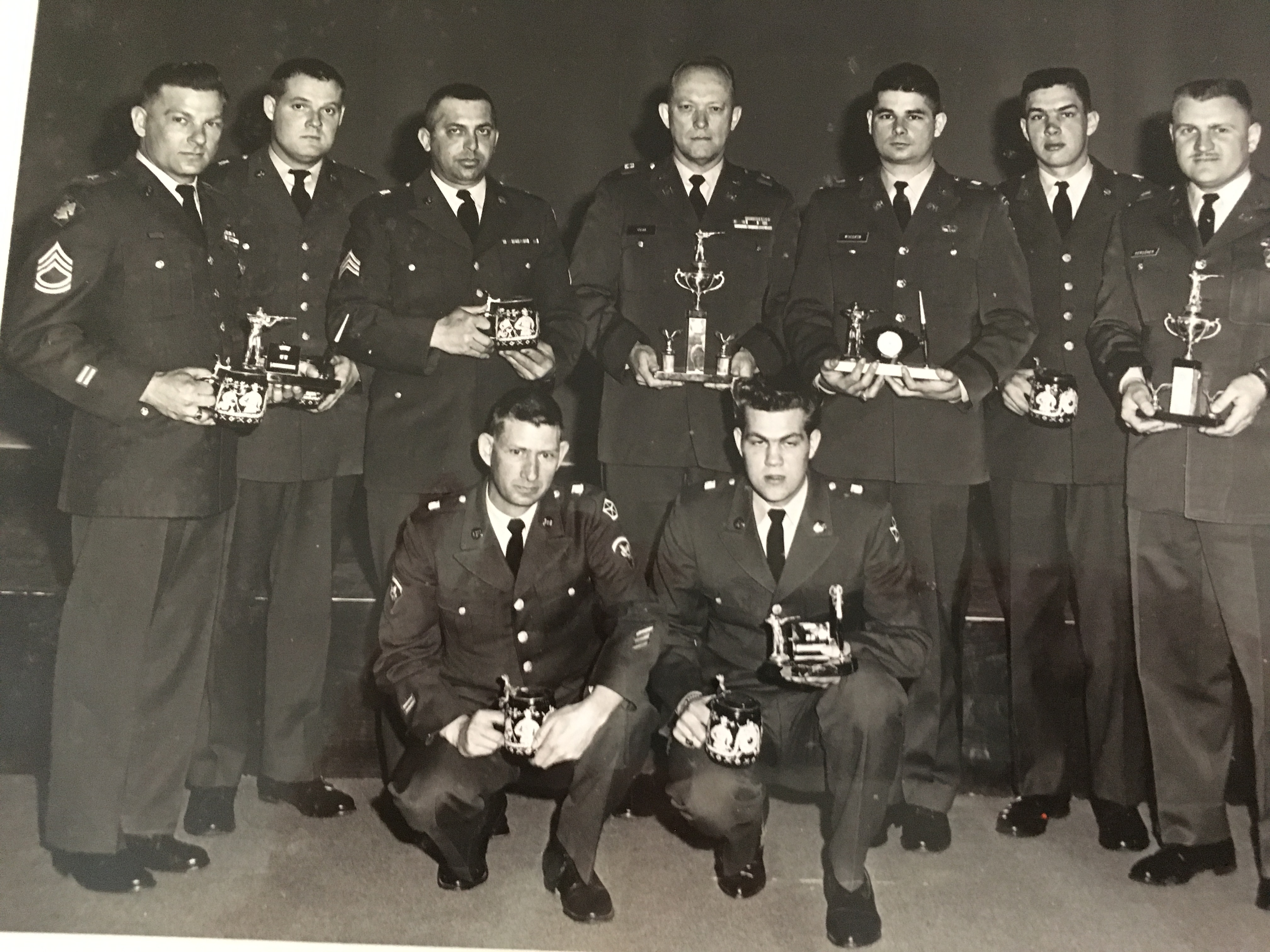 John with his rifle team
