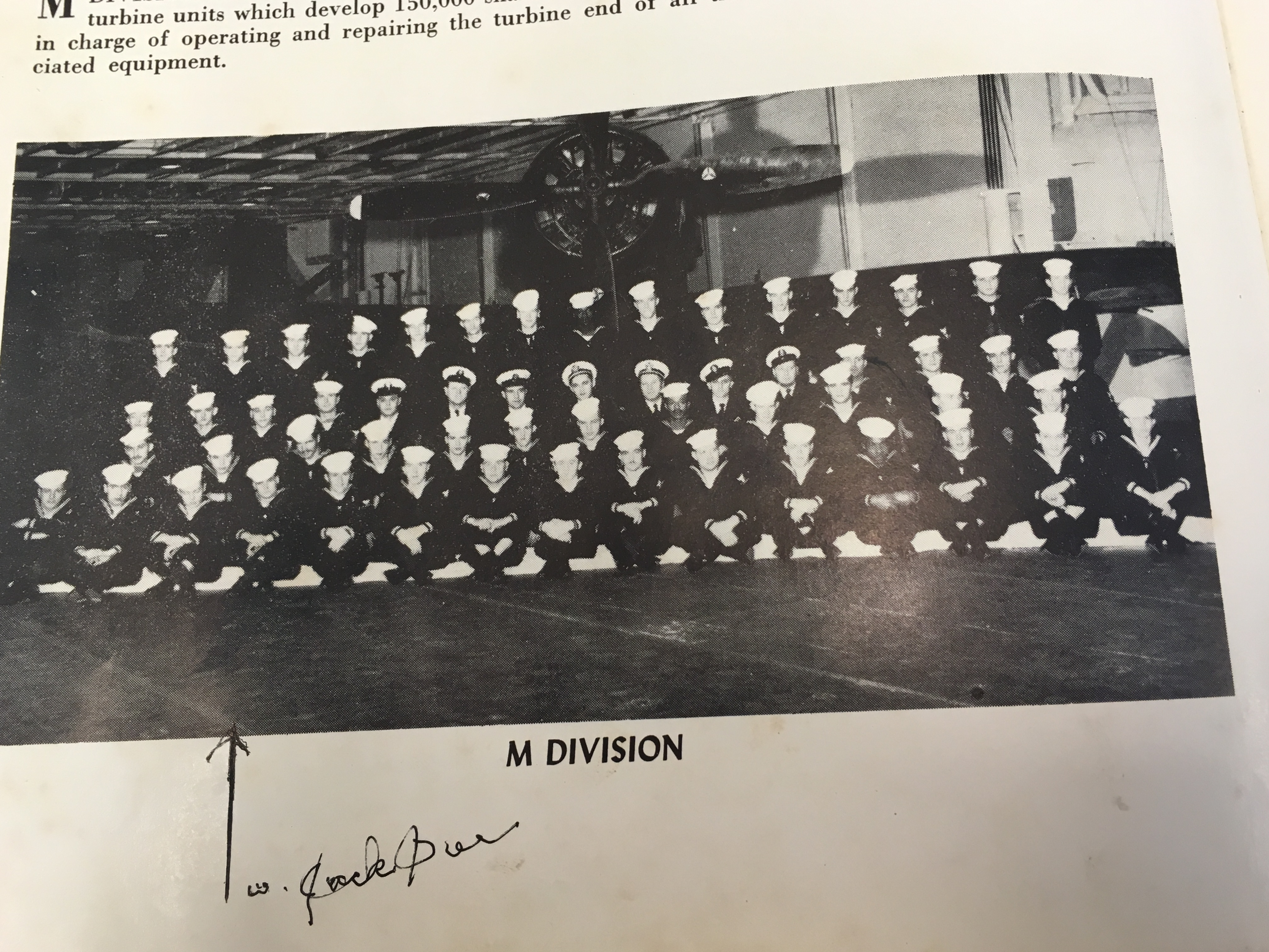 Photo from book of large group of sailors