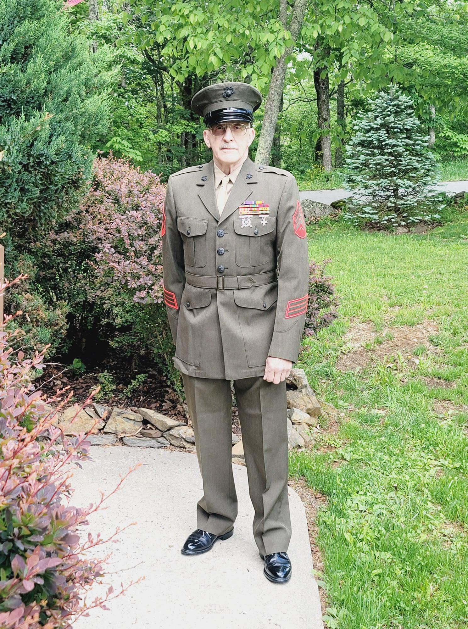 Older man in military uniform