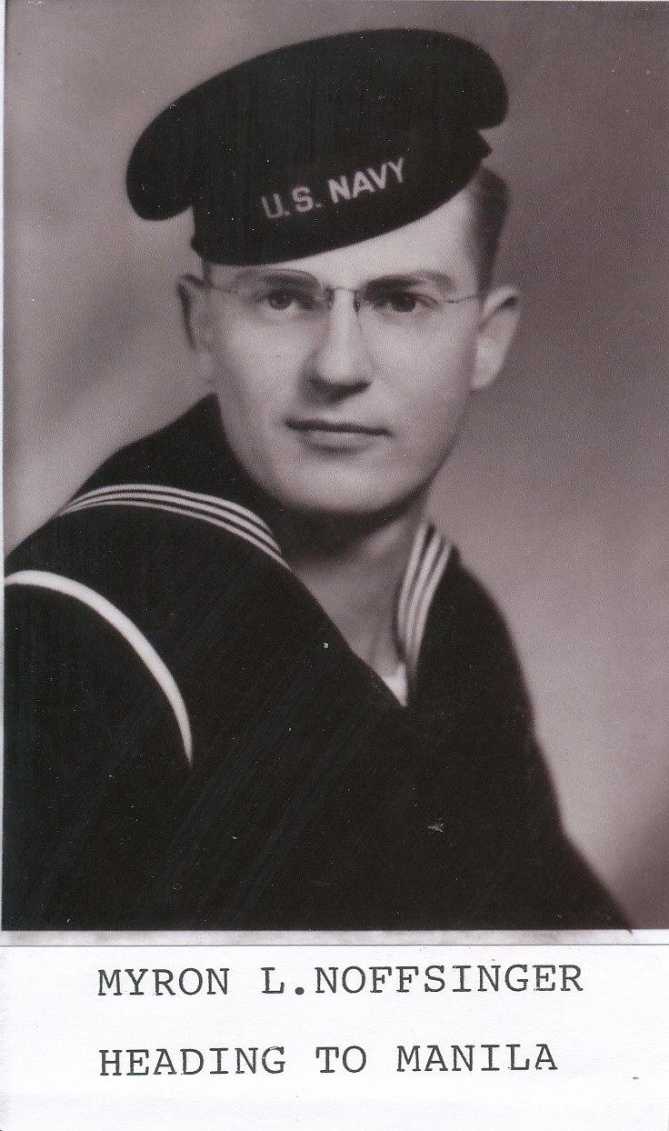 Mryon Noffsinger in navy uniform
