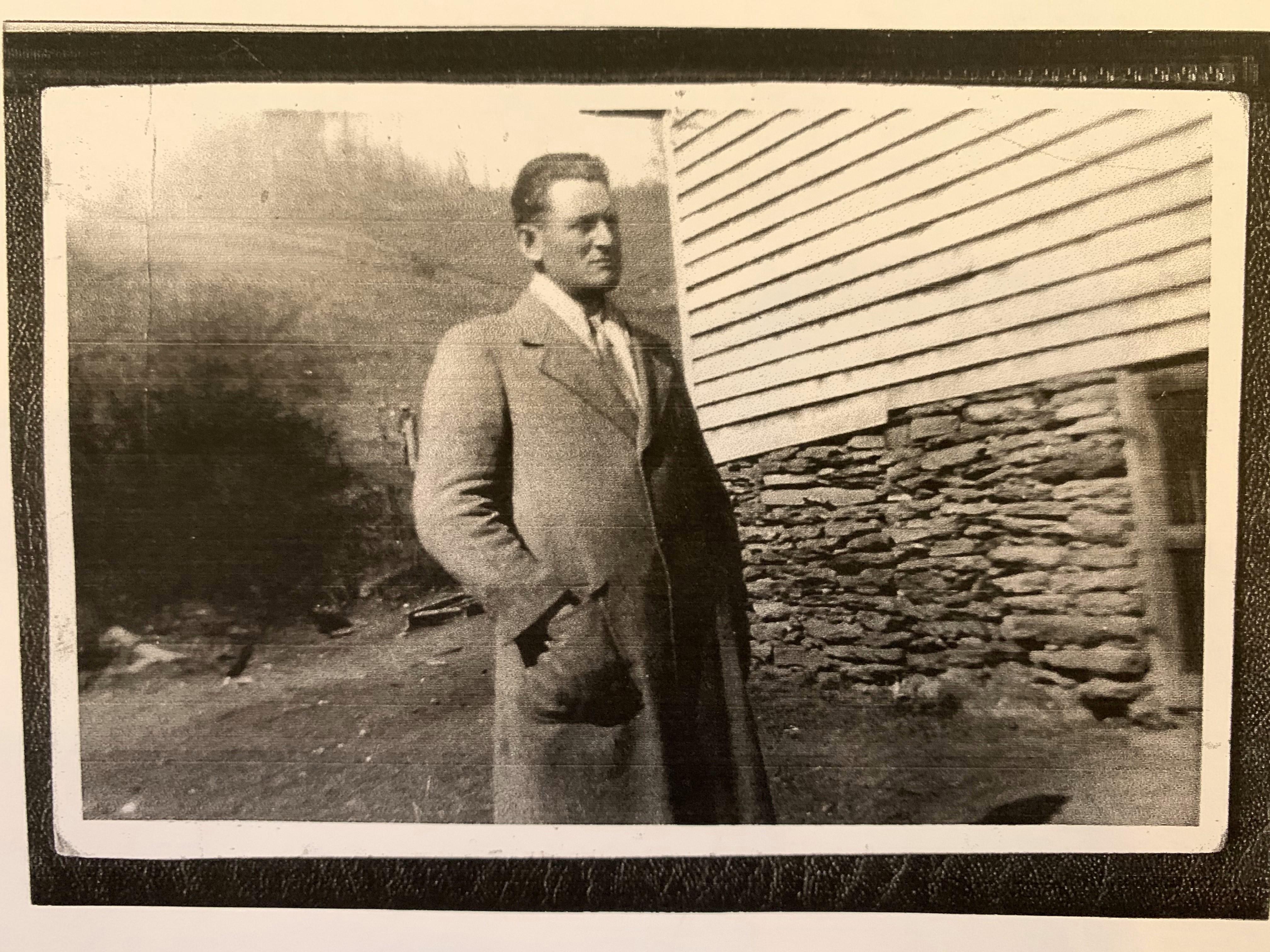 Black and white photo of Webb Blackburn